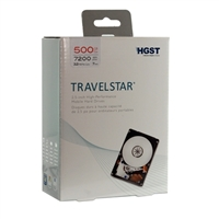 "HGST Travelstar 500GB 7,200 RPM SATA III 6Gb/s 2.5"" Notebook Hard Drive 0S03788"