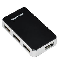 Gear Head 4-Port USB 2.0 Aluminum Hub