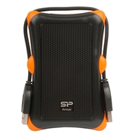 Silicon Power Rugged Armor A30 2TB SuperSpeed USB 3.0 Military Grade Portable Hard Drive - Black
