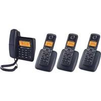 Motorola L704CM DECT 6.0 Enhanced Corded Phone with 3 Additional Handsets and Digital Answering System