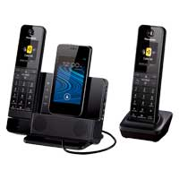 Panasonic Link2Cell Dock Style Bluetooth Cellular Convergence Solution with 2 Handsets