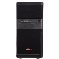 Logisys 5-Bay mATX Computer Case w/ 480W PSU - Black