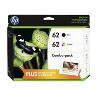 HP HP 62 Black/Tri-color Ink Cartridge Combo Pack