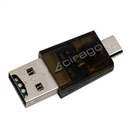 Cirago OTG Micro SD Card Reader for Galaxy S Series, Android Phones, Android Tablets