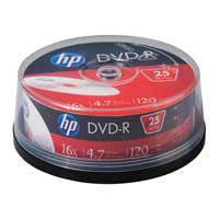 HP DVD-R 16x 4.7GB - 25 Pack Spindle
