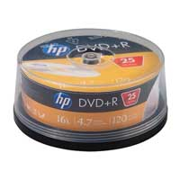 HP HP DVD+R 16x 4.7GB 25 Pack Spindle (Cake Box)