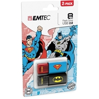 Emtec International 8GB USB Superman/Batman 2-Pack