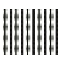 "Schmartboard Inc. 0.1"" Spacing 80-Dual Row Headers - Qty 10"