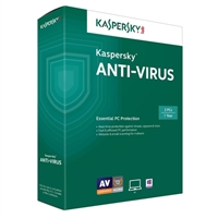 Kaspersky Anti-Virus - 3 User 1Year (PC)