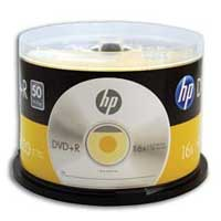 HP DVD+R 16x 4.7GB 50 Pack Spindle