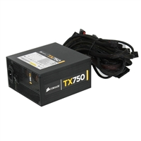 Corsair TX Series TX750 750 Watt  80 Plus Bronze Power Supply REfurbished