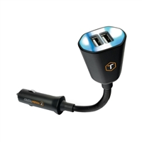 Tough Tested Power Flex 3.4Amp Dual USB Gooseneck Car Charge