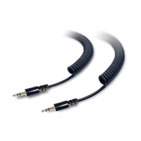 Tough Tested 10ft. Heavy Duty Coiled 3.5mm Auxiliary Cable