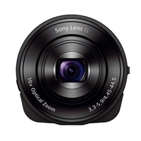 Sony DSCQX10/B Smartphone Attachable Lens-style Camera