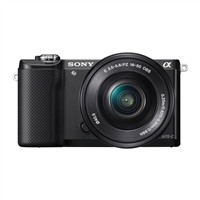 Sony Alpha a5000 20.1 Megapixel Digital Camera with 16-50mm Lens - Black