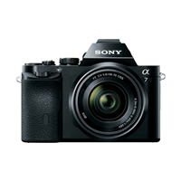 Sony a7 Full Frame Mirrorless 24.3 Megapixel Digital SLR Camera with 28-70mm Full Frame Lens-Black