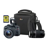 Canon EOS Rebel SL1 18.0 Megapixel Digital SLR Camera Kit with 18-55mm IS STM Lens and EF 75-300mm III Lens  - Black