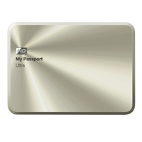 "WD My Passport Ultra Metal 1TB 5400 RPM SuperSpeed USB 3.0 2.5"" Portable External Hard Drive - Gold"