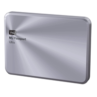 "WD My Passport Ultra Metal 1TB 5400 RPM USB 3.0 2.5"" Portable Hard Drive WDBTYH0010BSL-NESN - Silver"