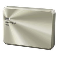 "WD My Passport Ultra Metal 2TB 5400RPM SuperSpeed USB 3.0 2.5"" External Portable Hard Drive WDBEZW0020BCG-NESN - Gold"