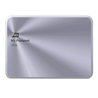 "WD My Passport Ultra Metal 2TB 5400RPM, USB 3.0 2.5"" Portable Hard Drive WDBEZW0020BSL-NESN - Silver"