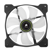 Corsair Air Series SP140 LED Green High Static Pressure Fan - Twin Pack