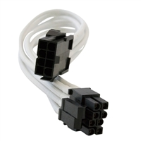 Eagle Technologies Nanoxia 8pin 4+4pin 30cm Sleeved  EPS Cable - White