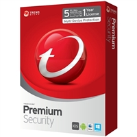 Trend Micro Premium Security - 5 Devices 1 Year (PC/Mac)