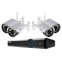 Lorex 8-Channel Wireless DVR with 1TB HD and 4 Indoor/Outdoor Night Vision Cameras.