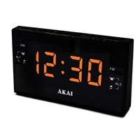 Akai Clock Radio AM/FM, PLL Digital Tuning, Dual Alarm,