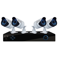 Night Owl 8 Channel Digital Video Recorder DVR and 4 Indoor/Outdoor Security Cameras