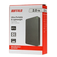 BUFFALO MiniStation 2TB USB 3.0 Portable Hard Drive HD-PCF2.0U3GB