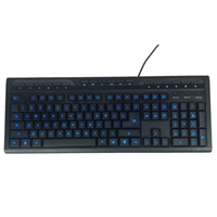Inland Illuminated Wired Keyboard with Hotkeys