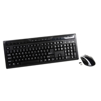 2.4GHz Wireless Optical Keyboard and Mouse Combo -Black