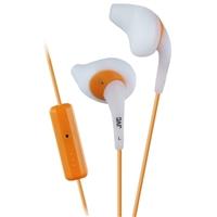 JVC Gumy Sport Stereo Earbuds w/ Mic - White/Orange