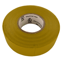 "Shaxon 3/4"" x 60' Vinyl Electrical Tape Yellow"