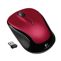 Logitech M325 Wireless Optical Mouse Refurbished - Red