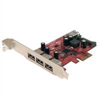 StarTech 4 Port Super Speed USB 3.0 PCIe Host Card with UASP Sata Power