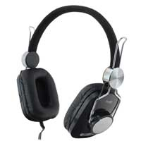 Inland Premium Hi-Fi On Ear Stereo Headphones - Black