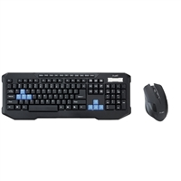 Inland Wireless Gaming Keyboard and Mouse Combo - Black