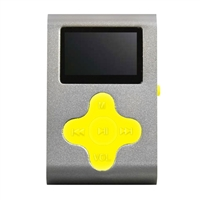 Mach Speed Technologies Fit Clip 4 GB MP3 Player - Silver/Yellow