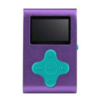 Mach Speed Technologies Fit Clip 4 GB MP3 Player - Purple/Teal