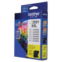 Brother LC205Y XXL Super High Yield Yellow Ink Cartridge