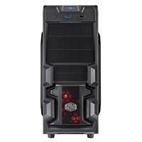 Cooler Master K380 ATX Computer Case w/ Red LED Fan - Black