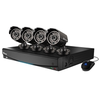 Swann Communications 8-Channel DVR with 500GB Hard Drive and 4 Indoor/Outdoor Security Cameras