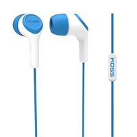 Koss KEB15i Noise Cancelling Stereo Earbuds - Blue