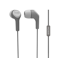 Koss KEB15i Noise Cancelling Stereo Earbuds - Gray