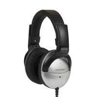 Koss QZPRO Noise Cancelling On Ear Headphones - Black/Silver