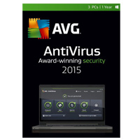 AVG Antivirus 2015 3 User 1 Year (PC)