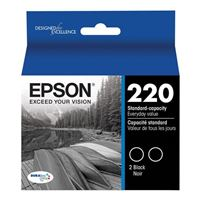 Epson T220120-D2 Black Ink Cartridge 2-Pack